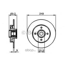 Диск тормозной (Bosch) 0986479275