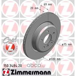 Тормозной диск (Zimmermann) 150348420