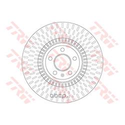 Тормозной диск (TRW/Lucas) DF6216