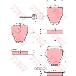 Комплект тормозных колодок, дисковый тормоз (TRW/Lucas) GDB1505