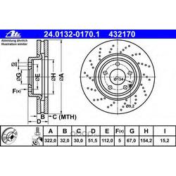 Тормозной диск (Ate) 24013201701