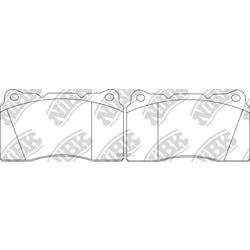 Колодки тормозные передние (MITSUBISHI) 4605A572