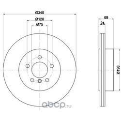 Тормозной диск (Hella) 8DD355119281