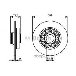 Диск тормозной задний (Bosch) 0986479400