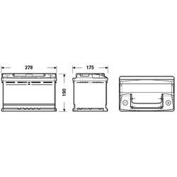 Батарея аккумуляторная 70А/ч 640А 12В обратная полярн. стандартные клеммы (DETA) DC700
