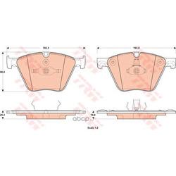 Комплект тормозных колодок, дисковый тормоз (TRW/Lucas) GDB1915