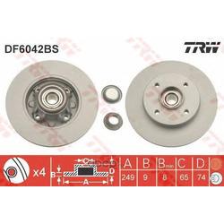 Диск тормозной (TRW/Lucas) DF6042BS