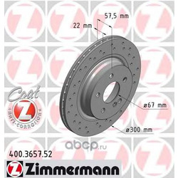 Тормозной диск (Zimmermann) 400365752