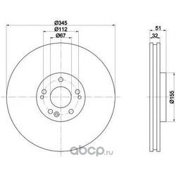 Диск тормозной TEXTAR (Textar) 92103205