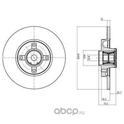 Тормозной диск (Delphi) BG9053RS