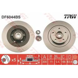 Диск тормозной (TRW/Lucas) DF6044BS