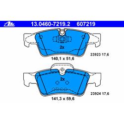 Колодки тормозные дисковые, комплект (Ate) 13046072192