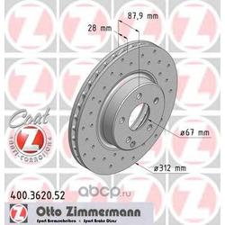 Тормозной диск (Zimmermann) 400362052