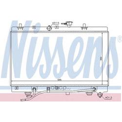 Радиатор, охлаждение двигателя (Nissens) 66663