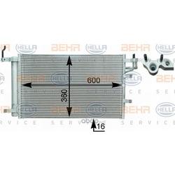 Конденсатор, кондиционер (Hella) 8FC351303081