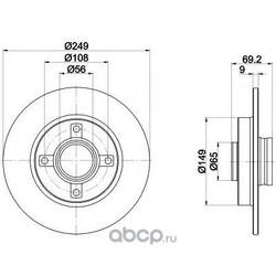 Тормозной диск (Textar) 92202103