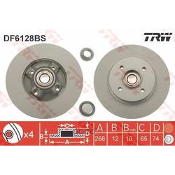 Тормозной диск (TRW/Lucas) DF6128BS