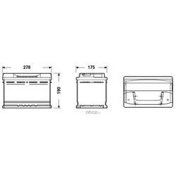 Батарея аккумуляторная 74А/ч 680А 12В обратная полярн. стандартные клеммы (DETA) DB740