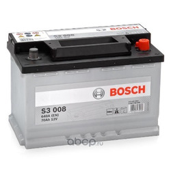 АКБ, залитая эл-литом и заряж. (Bosch) 0092S30080
