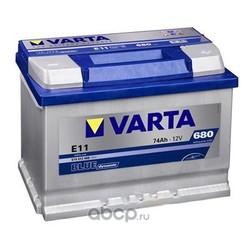 Батарея аккумуляторная 74А/ч 680А 12В обратная полярн. стандартные клеммы (Varta) 574012068