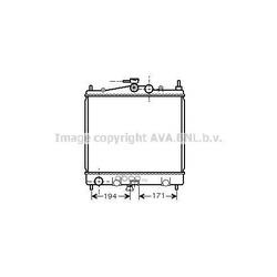 Радиатор, охлаждение двигателя (Ava) DN2247