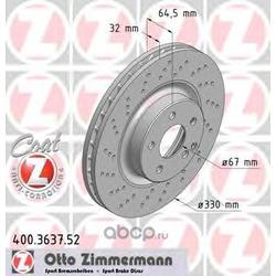 Тормозной диск (Zimmermann) 400363752