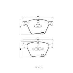 Колодки тормозные дисковые, комплект (Brembo) P06073