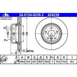 Тормозной диск (Ate) 24012402392