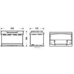 Батарея аккумуляторная 77А/ч 760А 12В обратная полярн. стандартные клеммы (DETA) DA770