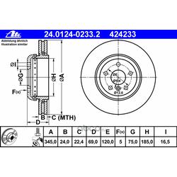 Тормозной диск (Ate) 24012402332