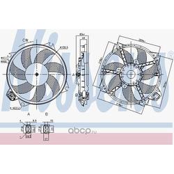 Вентилятор, охлаждение двигателя (Nissens) 85989