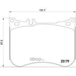 Комплект тормозных колодок (Brembo) P50095
