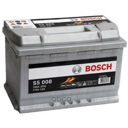 Батарея аккумуляторная 77А/ч 780А 12В обратная полярн. стандартные клеммы (Bosch) 0092S50080