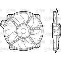 Вентилятор радиатора системы охлаждения (Valeo) 696376