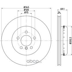 Тормозной диск (Textar) 92253925