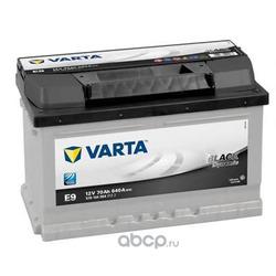 Батарея аккумуляторная 70А/ч 640А 12В обратная полярн. стандартные клеммы (Varta) 5701440643122