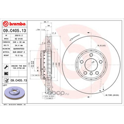 Тормозной диск (Brembo) 09C40513