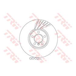 Тормозной диск (TRW/Lucas) DF6611S