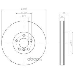 Тормозной диск (Hella) 8DD355119271
