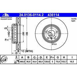 Тормозной диск (Ate) 24013601142