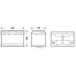 Батарея аккумуляторная 70А/ч 760А 12В обратная полярн. стандартные клеммы (DETA) DK700