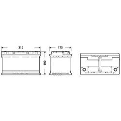 Батарея аккумуляторная 80А/ч 800А 12В обратная полярн. стандартные клеммы (DETA) DK800