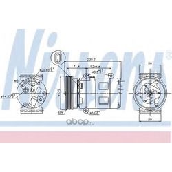 Компрессор кондиционера (Nissens) 89072