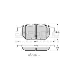 Колодки тормозные дисковые задние (Akebono) AN716WK