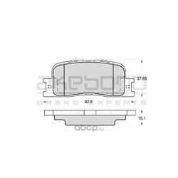 Колодки тормозные дисковые задние (Akebono) AN659K