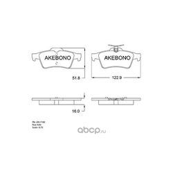Колодки тормозные дисковые задние (Akebono) AN718K