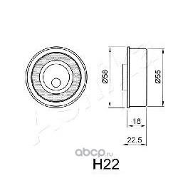 Устройство для натяжения ремня, ремень ГРМ (Ashika) 450H022