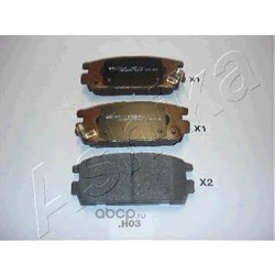 Комплект тормозных колодок, дисковый тормоз (Ashika) 510HH03