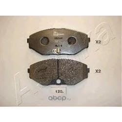 Комплект тормозных колодок, дисковый тормоз (Ashika) 5001120