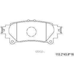колодки тормозные (ASIMCO) KD2504